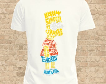 Bart Simpson Mens T Shirt, Women Flattering Fit also available, Fun Bart Tee Shirt, Ideal Bart Simpson Gift, Fandom