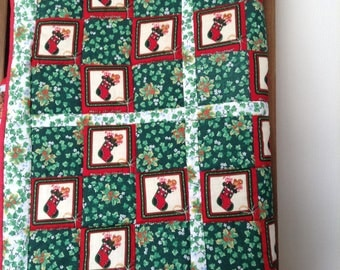 Christmas patchwork quilt hand made