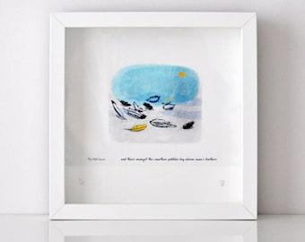 Fine Art Giclee Print - Swans Feathers - Unframed
