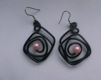 Earrings for pierced ears-aluminum wire