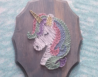Magical unicorn string art