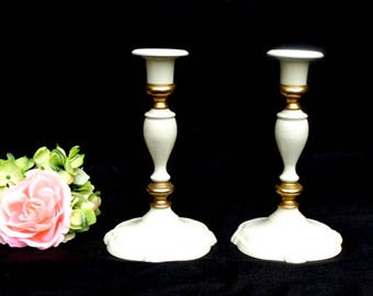 Pair of Vintage Brass Candlesticks 7 inches