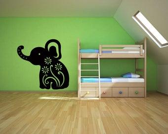 Baby Elephant Vinyl Wall Art Decal