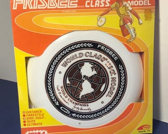 1980 WHAM-O VINTAGE FRISBEE sealed moc new old stock world class flying disc ifa toy wham o model 119 G world class 119g zimmerman horowitz