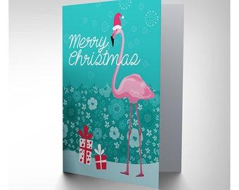 Xmas / Flamingo / Tropical / Christmas Card - CP3090