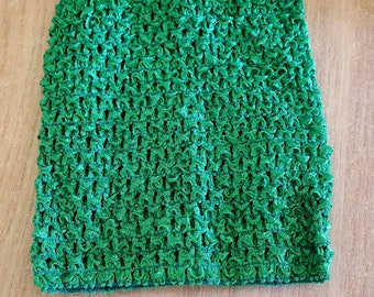 STRAPLESS stretch green crochet for creating dress 0-16 month TUTU