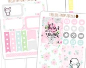 anniversary add on mini kit (2 sheets)- hand drawn stickers for your planner!