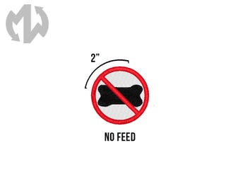 """NO FEED 2"""" round Service Dog Patch"""
