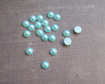 160 half bead 8 mm sky blue