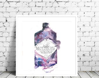 Mother's Ruin gin art print