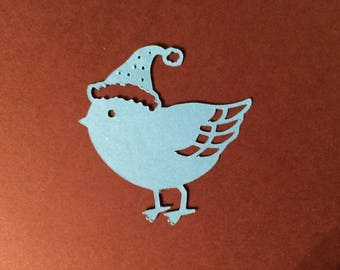 Cute little winter bird cutout
