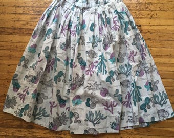Sweet Pleated Cacti Skirt