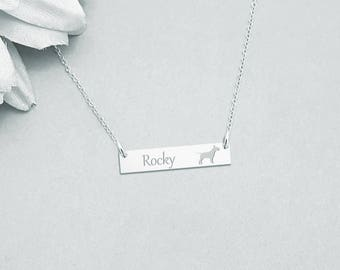 Bull Terrier Necklace, Dog Necklace, Pet Jewelry, Bull Terrier Charm, Dog Lover, Pet Gift, Bull Terrier Jewelry