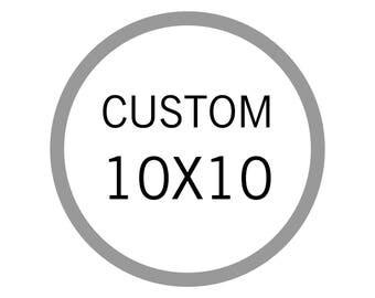 Custom 10x10, wood sign