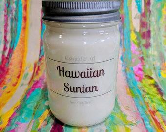 Hawaiian Suntan | 12 oz hand poured soy candle
