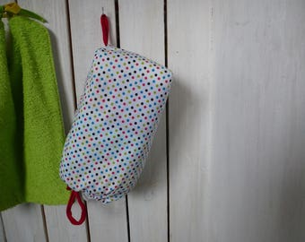 cotton maxi red/white dot dispenser