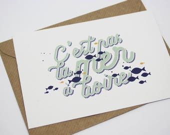 Card - La mer à boire