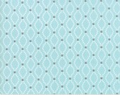 Nest Floral Seeds in Robins Egg Aqua from the Nest Collection by Lella Boutique for Moda, Birds Nest Quilting Fabric 5063 15