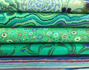 Bundle of Kaffe Fassett Collective Fabrics 5 fabrics - Kaffe Fassett Collective Green Bundle