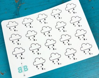 Snow Weather Stickers - Mini Sheet