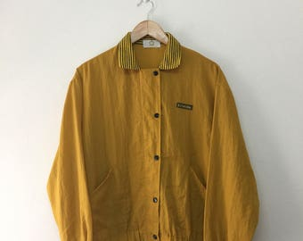 Takashimaya Womens Light Jacket/Takashimaya Kizakura Snap Button Nylon Jacket/Japanese/Mustard Yellow/Size M