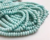 "Natural Amazonite Gemstone Rondelle Loose Beads For Jewellery Making 15.5"" Strand Wholesaler.Size 4x6mm/5x8mm/6x10mm"