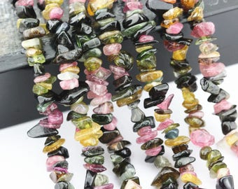 Nice Multi-Color Tourmaline Chips Loose Beads Size 5~6mm 32 Inches per strand For Jewelery Making . CHI-001VJP-TOU-21