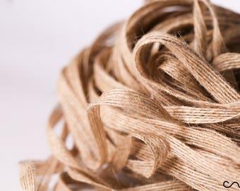 5/10 Striped Jute Ribbon 7mm Natural Hessian Burlap Ribbon Wedding Floristry Gift Wrapping