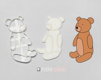 Teddy Bear 3 Cookie Cutter