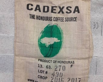 Set of 3 coffee burlap bags