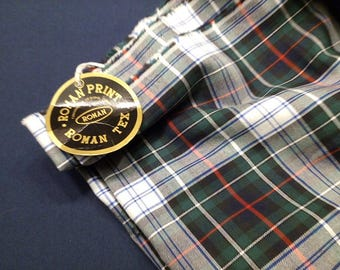 Quality Cotton Yarn Dye Cloth Woven Plaid Fabric Tartan Shirt Material