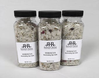 Hibiscus spa salts, Bridesmaid Gift, Spa Day