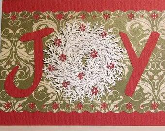 Christmas wreath card - Joy