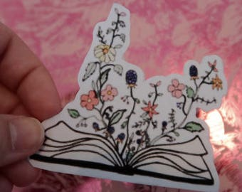 Floral Book Sticker