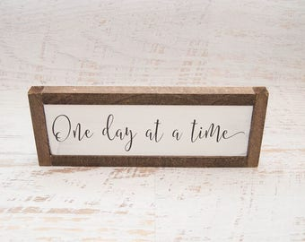Inspirational Wall Art | Wooden Sign | Rustic Wood Sign | Recovery Gift | Wall Decor With Saying | Thoughtful Gift | Positive Wall Decor