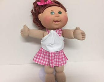 Dolls Ruffled Skirt and Halter Top to fit Baby Born and Cabbage Patch Dolls
