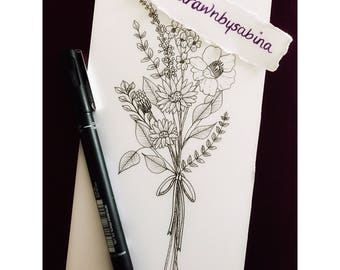 Bunch of Flowers Tattoo Design