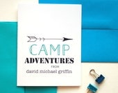 Kids Summer Camp, Camp Stationary, Kids Stationary Personalized Cards, Thank You Card, Sleep Away Camp Personalized Stationery Set of 10