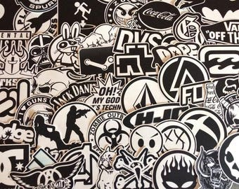 Set of stickers stickers, black, black and white, transparent doodle stickerbombe dark