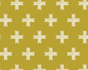 Art Gallery Fabrics - Heartland-Unn Cross in Ochre- Pat Bravo