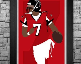 MICHAEL VICK minimalism style limited edition art print. Choose from 3 sizes!