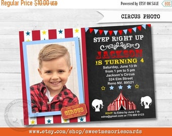 50% OFF SALE Circus Invitations, Circus Birthday Invitation, Carnival Invitation, Carnival Birthday Invitation, CIRCUS Photo