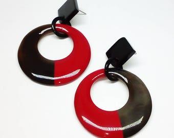 Buffalo horn earrings  - horn jewelry - best friend jewelry KAI-2727