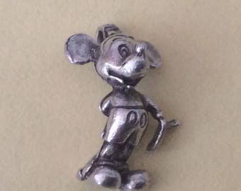 Sterling silver Mickey Mouse Disney charm vintage #258s