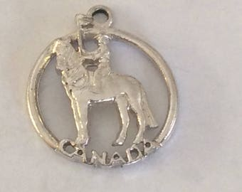 Sterling silver RCMP Canada charm vintage #707 s