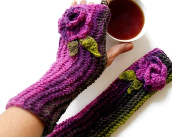 Long Fingerless Gloves, Knitted Long Gloves, Women Fingerless Gloves, Arm Warmer, crochet Gloves, Knitted Fingers Gloves, Women gifts