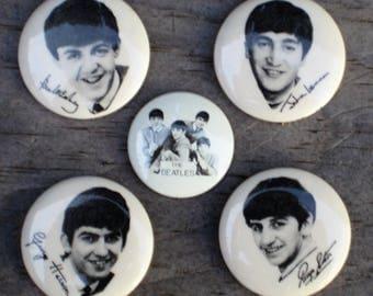 Original Beatles Pinback Buttons