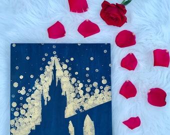 Beauty and the Beast Castle//Disney Art//Princess Room Art
