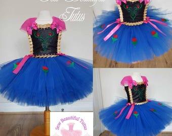 Anna snow princess tutu dress - Fun Party Outfit Fancy Cute Birthday Photo Shoot