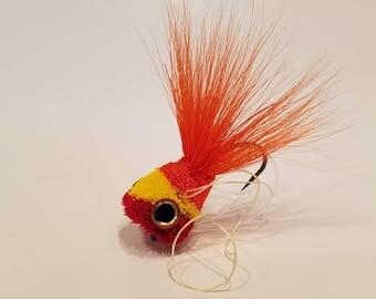 deer hair popper, bass flies, bass bug, deer hair fly, largemouth bass, smallmouth bass, flies, bass on the fly, warm water fly fishing